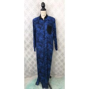 5 for $25| Concrete Blues Long Sleeve Maxi Dress
